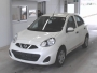 NISSAN MARCH  2017  WHITE