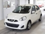 NISSAN MARCH 2016 WHITE